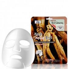 3W CLINIC Fresh red ginseng mask sheet - Маска тканевая для лица красный женьшень 23мл