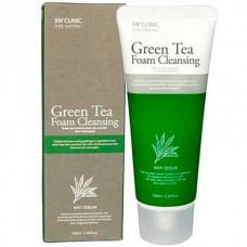 3W CLINIC Green tea foam cleansing - Пенка для лица с экстрактом зелёного чая 100мл