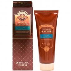 3W CLINIC Premium placenta clear foam cleansing - Пенка для умывания с плацентой 180мл