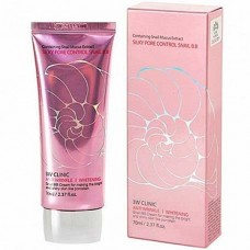 3W CLINIC Silky pore control BB cream pink - Крем субум контролем с улиткой 70мл