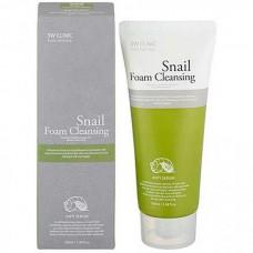 3W CLINIC Snail foam cleansing - Пенка для лица с фильтратом улиточного муцина 100мл