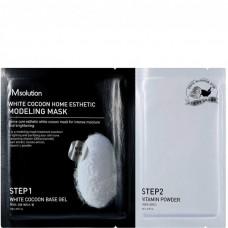 JMsolution White cocoon home esthetic modeling mask - Маска с протеинами шелкопряда и жемчугом 55гр