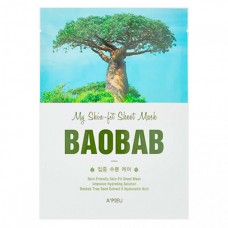A`PIEU My skin-fit sheet mask baobab - Маска тканевая с экстрактом баобаба 25гр