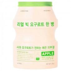 A`PIEU Real big yogurt one-bottle APPLE - Маска тканевая йогуртовая с экстрактом ЯБЛОКО 21гр