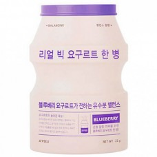 A`PIEU Real big yogurt one-bottle BLUEBERRY - Маска тканевая йогуртовая с экстрактом ГОЛУБИКА 21гр