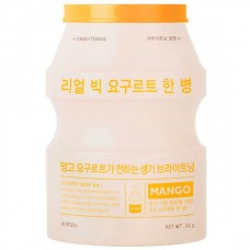 A`PIEU Real big yogurt one-bottle MANGO - Маска для лица тканевая с МАНГО 21гр