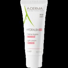 A-DERMA HYDRALBA UV Light Cream SPF20 - Легкий увлажняющий крем СЗФ 20, 40мл