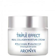 ARONYX Triple effect moisture cream - Крем для лица с морским коллагеном 50мл