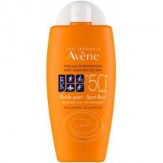 Avene SUN Very high protection SPORT FLUID SPF50+ - Солнцезащитный флюид СПОРТ для лица и тела СЗФ 50+, 100мл