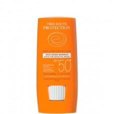 Avene SUN Very high protection STICK SPF50+ - Солнцезащитный стик для гиперчувствительной и очень светлой кожи СЗФ 50+, 8гр