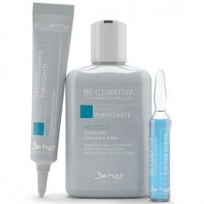 Be hair BE CURATIVA PURIFICANTE FORFORA - Набор для решения проблем перхоти 150мл + 3 х 30мл + 3 х 10мл