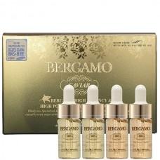 BERGAMO Caviar high potency vitamin ampoule - Набор ампульных сывороток с экстрактом чёрной икры 4 х 13мл