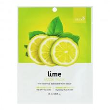 BERGAMO Mask pack lime - Маска тканевая для лица с экстрактом ЛАЙМА 28мл