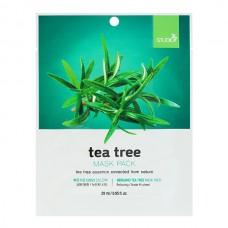 BERGAMO Mask pack tea tree - Маска тканевая для лица с ЧАЙНЫМ ДЕРЕВОМ 28мл