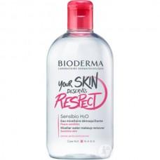 BIODERMA Sensibio H2O Solution micellaire - Мицеллярная вода для демакияжа и очищения чувствительной кожи (25 лет) 500мл