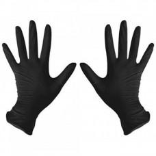 benovy size M - Перчатки нитриловые чёрные размер М, 1 пара