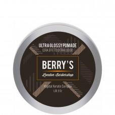 BRELIL Professional BERRY'S GLOSSY POMADE - Моделирующая паста (помада) для волос с ультраблеском 50мл