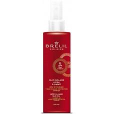 BRELIL Professional SOLARE OLIO CORPO & CAPELLI SPF6 - Защитое масло для волос и тела СЗФ6, 150мл