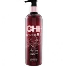 CHI Rose Hip Oil Shampoo - Шампунь с маслом розы и кератином 739 мл.