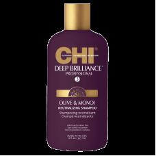 CHI Deep Brilliance Olive & Monoi Neutralizing Shampoo - Глубоко очищающий и нейтрализуйющий шампунь 355мл