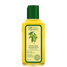 CHI Olive organics OLIVE & SILK Hair and Body Oil - Масло для волос и тела с маслом оливы 59мл