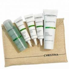 CHRISTINA Bio Phyto Set - Дорожный набор для лица 15 + 50 + 15 + 40 + 15мл