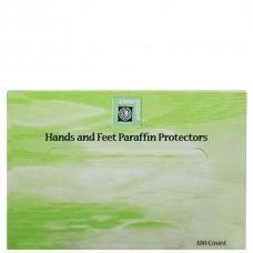 clean+easy Paraffin Wax Protector - Защита для рук и ног 100шт