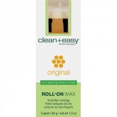 """clean+easy Wax Original - Воск в катридже """"Оригинальный"""" д/тела 34гр"""
