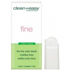 clean+easy Wax Roller Heads Fine - Роликовая головка д/лица (на 12гр), 1шт
