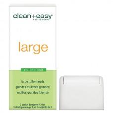 clean+easy Wax Roller Heads Large - Роликовая головка д/ног (на 80гр), 1шт