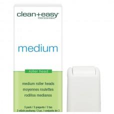 clean+easy Wax Roller Heads Medium - Роликовая головка д/тела (на 34гр), 1шт