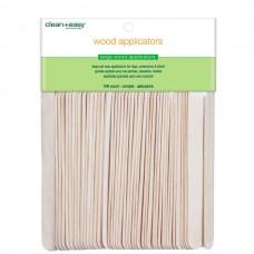 clean+easy Wax Wood Applicator Large - Деревянные шпатели большие 100шт