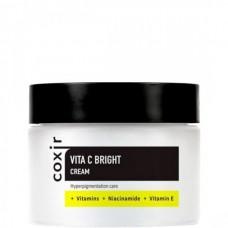 coxir VITA C BRIGHT Cream - Крем для выравнивания тона кожи с витамином С, 50мл
