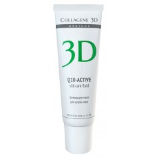 "Collagene 3D FACE Serum SILK CARE Q10-ACTIVE - ПРОФ Флюид для лица с коэнзимом Q10 ""Шелковый уход"" 30мл"