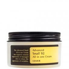 COSRX Advanced Snail 92 All In One Cream - Многофункциональный крем для лица с 92% муцина улитки 100мл