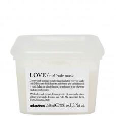 Davines LOVE/ curl hair mask - Маска для усиления завитка 250мл
