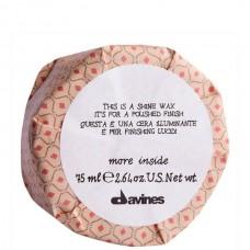 Davines more inside Shine Wax - Воск-блеск для глянцевого финиша 75мл