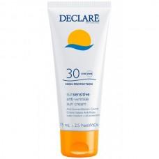 DECLARE SUN SENSITIVE Anti-Wrinkle Sun Cream SPF30 - Солнцезащитный крем с омолаживающим действием СЗФ 30, 75мл