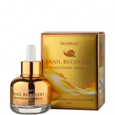 Deoproce Snail recovery brightening ampoule - Ампула-сыворотка на основе муцина улитки 30мл