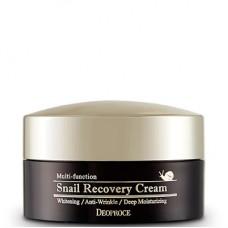 Deoproce Snail recovery cream - Крем восстанавливающий с муцином улитки 100гр