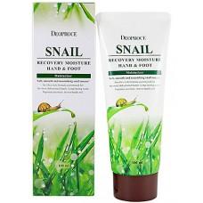 Deoproce Snail recovery moisture hand & foot - Крем с муцином улитки для кожи рук и ног 100мл