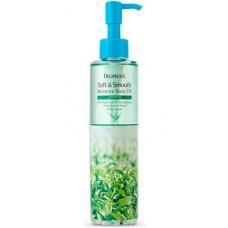 Deoproce Soft & smooth body oil green tea - Смягчающее масло с зелёным чаем для тела 200мл