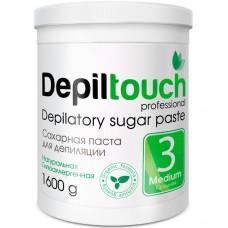 Depiltouch Depilatory Sugar Paste №3 MEDIUM - Сахарная паста для депиляции СРЕДНЕЙ плотности 1600гр