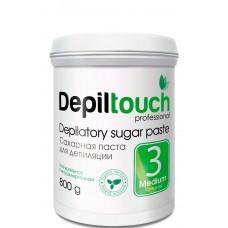 Depiltouch Depilatory Sugar Paste №3 MEDIUM - Сахарная паста для депиляции СРЕДНЕЙ плотности 800гр