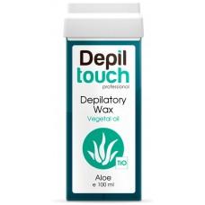 Depiltouch Depilatory Wax Vegetal Oil ALOE - Тёплый воск для депиляции (плотный) + 40С с натуральным маслом АЛОЭ 100мл