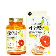 Eco Branch AHA & BHA VITAMINS all In one ampoule - Сыворотка ампульная для лица с витаминами 250мл
