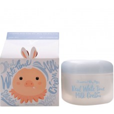 Elizavecca Real white time milk cream - Крем для лица и тела осветляющий с козьим молоком 100мл