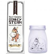 Elizavecca Silky creamy donkey steam moisture milky - Крем для кожи молочный увлажняющий 100мл