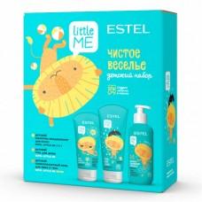 """Estel Little Me - Детский набор """"Чистое веселье"""" (шампунь-кондиционер + гель для душа + солнцезащитный крем) 300 + 200 + 150мл"""