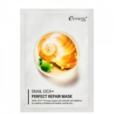 Esthetic House mask Snail cica+ perfect repair - Маска тканевая для лица муцин улитки 25мл